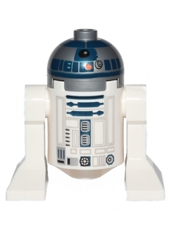 R2-D2 (Flat Silver Head, Dark Blue Printing)