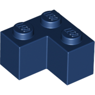 Brick 2 x 2 Corner - Dark Blue