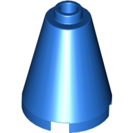 Cone 2 x 2 x 2 - Completely Open Stud - Blue