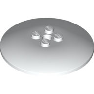 Dish 6 x 6 Inverted (Radar) - Solid Studs - White