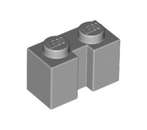 Brick, Modified 1 x 2 with Groove - Light Bluish Gray