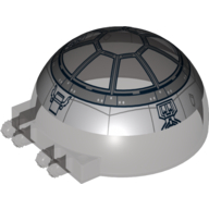 Windscreen 6 x 6 x 3 Canopy Half Sphere with Dual 2 Fingers and SW Tie-Fighter Pattern