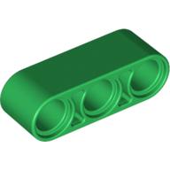 Technic, Liftarm 1 x 3 Thick - Green