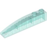 Slope, Curved 6 x 1 - Trans-Light Blue