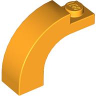 Brick, Arch 1 x 3 x 2 Curved Top - Bright Light Orange