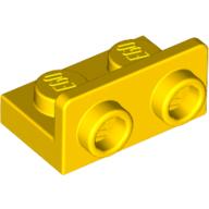 Bracket 1 x 2 - 1 x 2 Inverted - Yellow