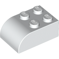 Brick, Modified 2 x 3 with Curved Top - White