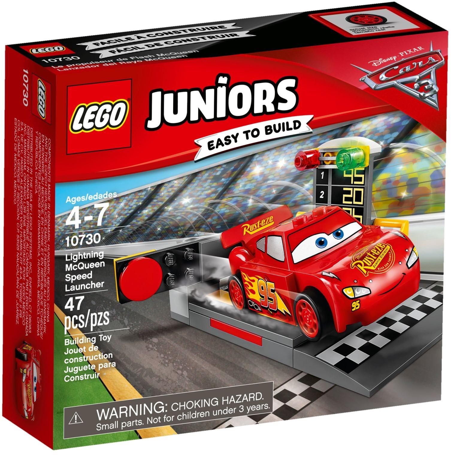 LEGO Juniors - Villám McQueen versenyautó indítója