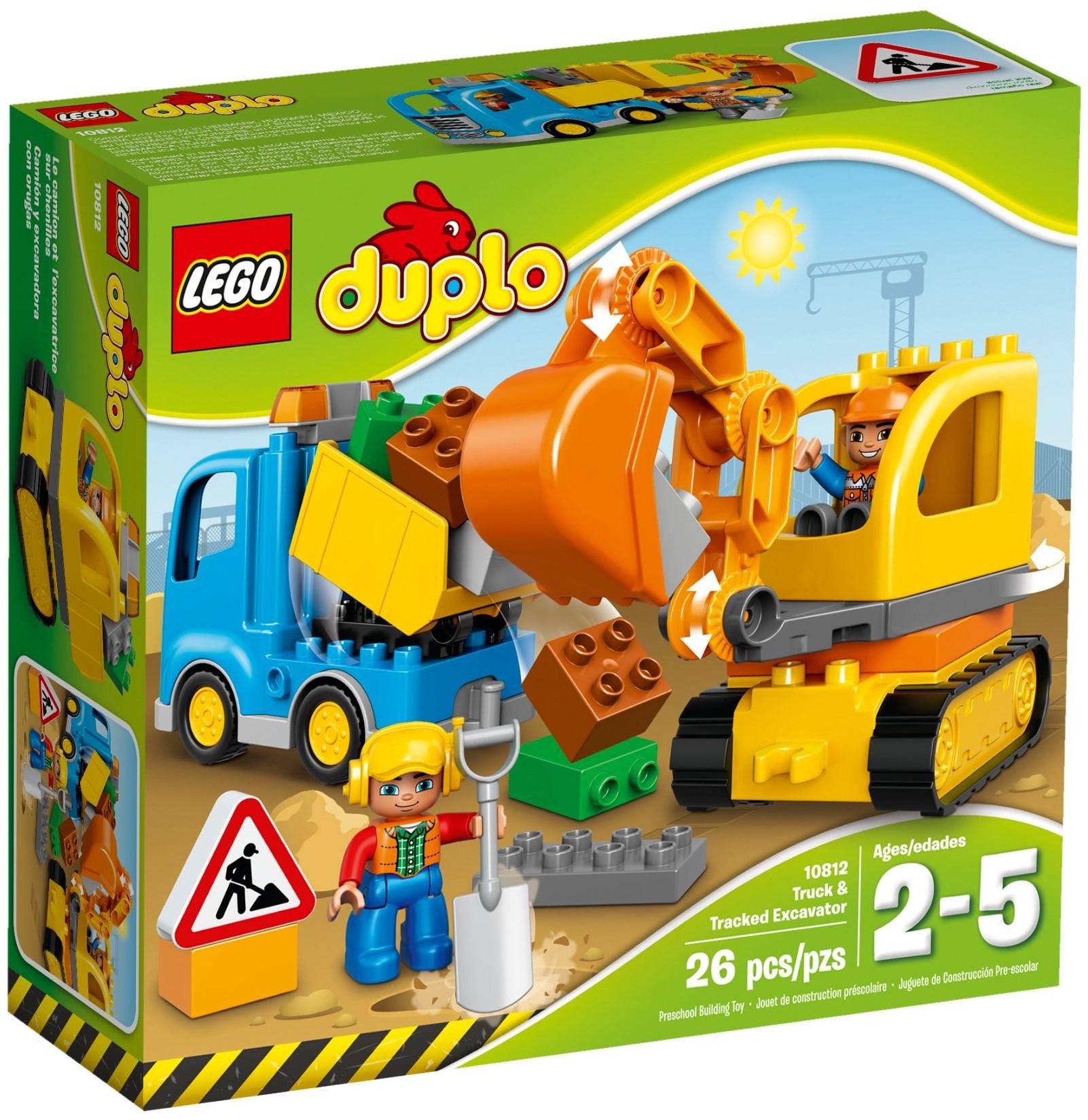 LEGO® Teherautó és lánctalpas exkavátor