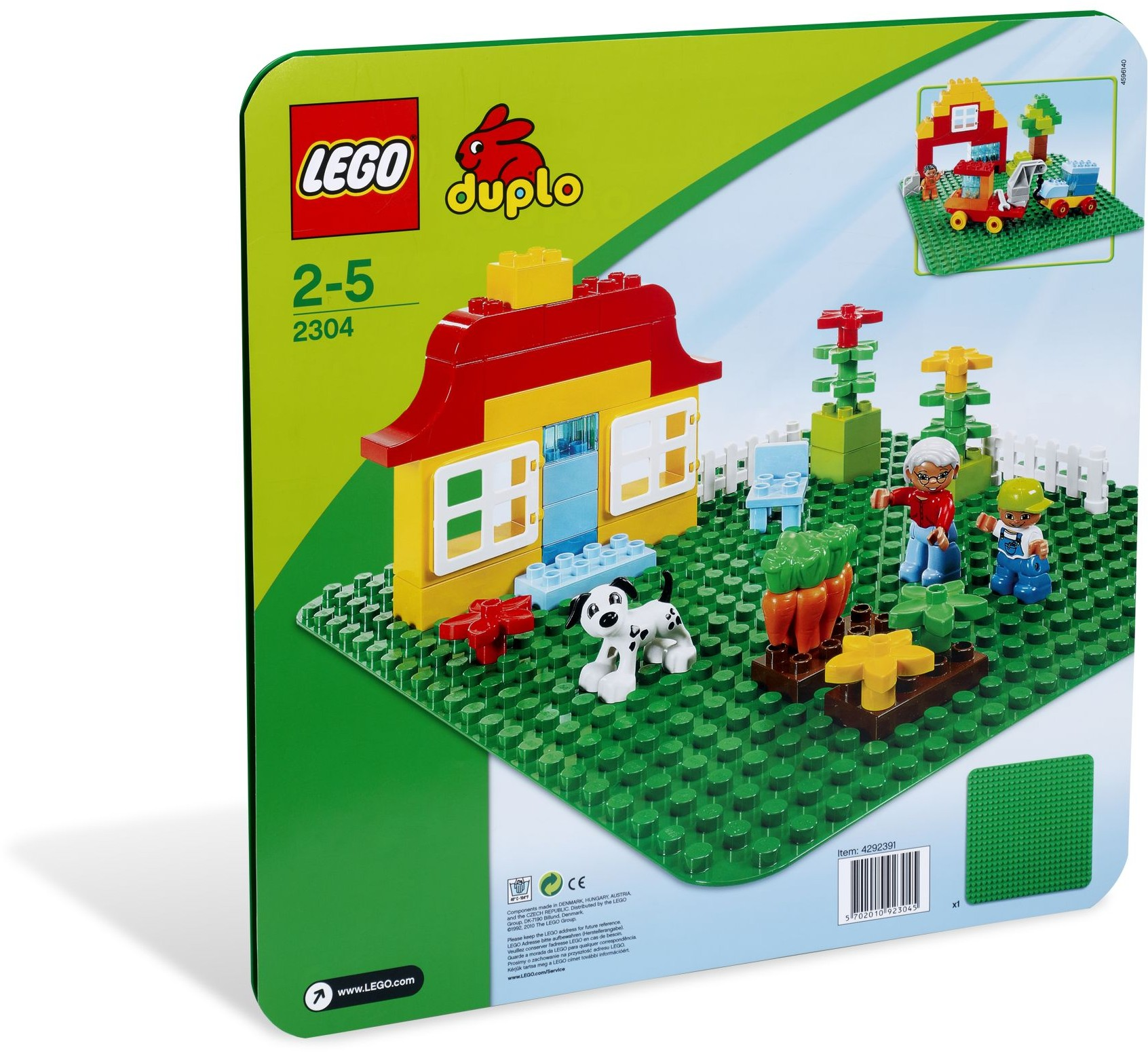 LEGO® Zöld építőlap