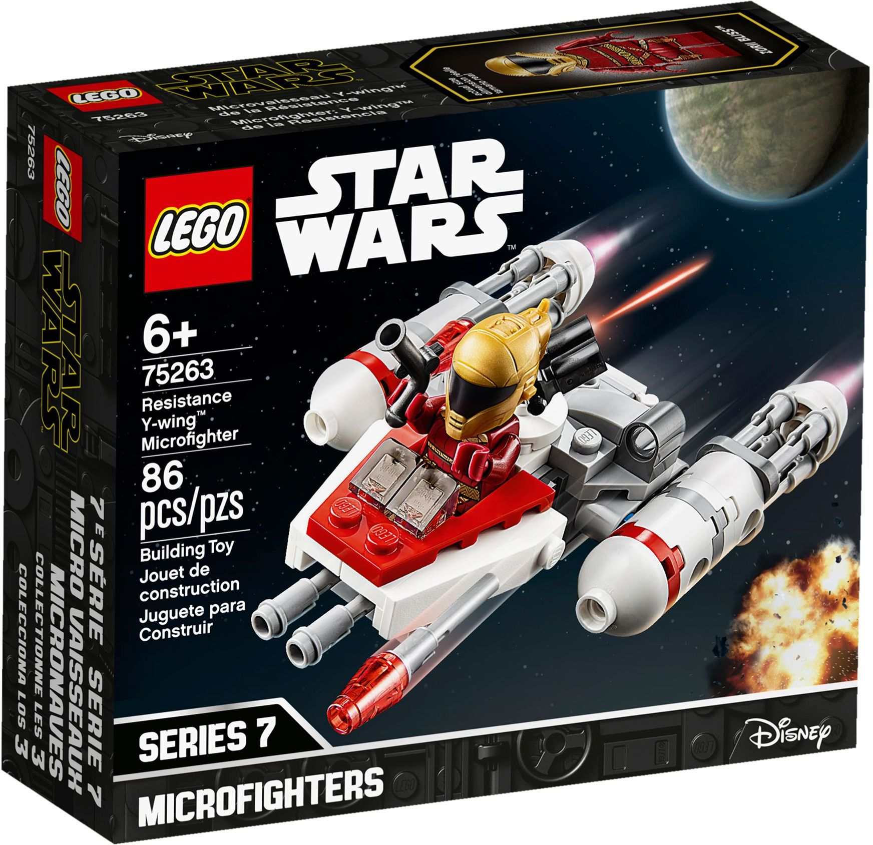 LEGO® 75263 - Az Ellenállás Y-szárnyú™ Microfightere