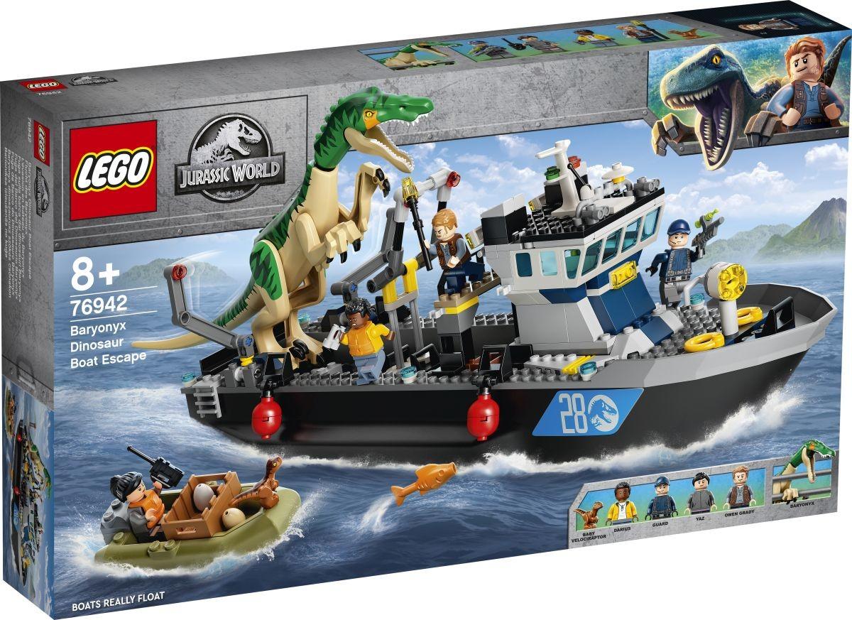 Jurassic World 76942 - Baryonyx dinoszaurusz szökés csónakon